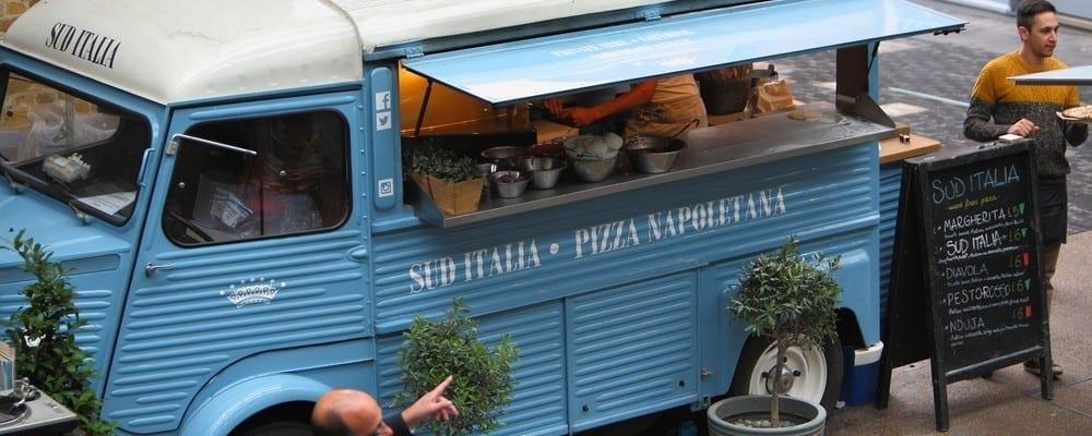 pizzeria furgone londra