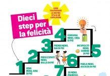 step felicità infografica