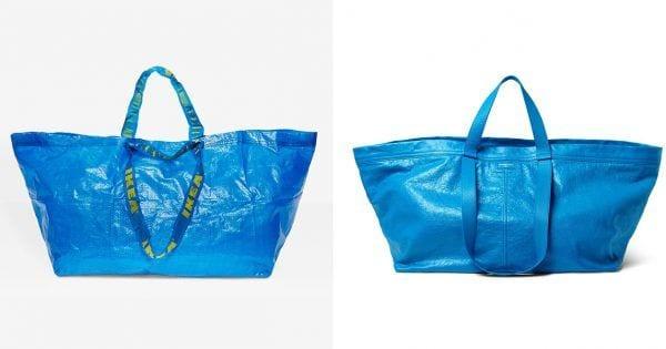 La risposta di IKEA alla borsa blu di Balenciaga
