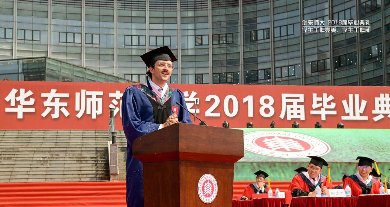 Cina, lo studente italiano conquista il web con le sue parole