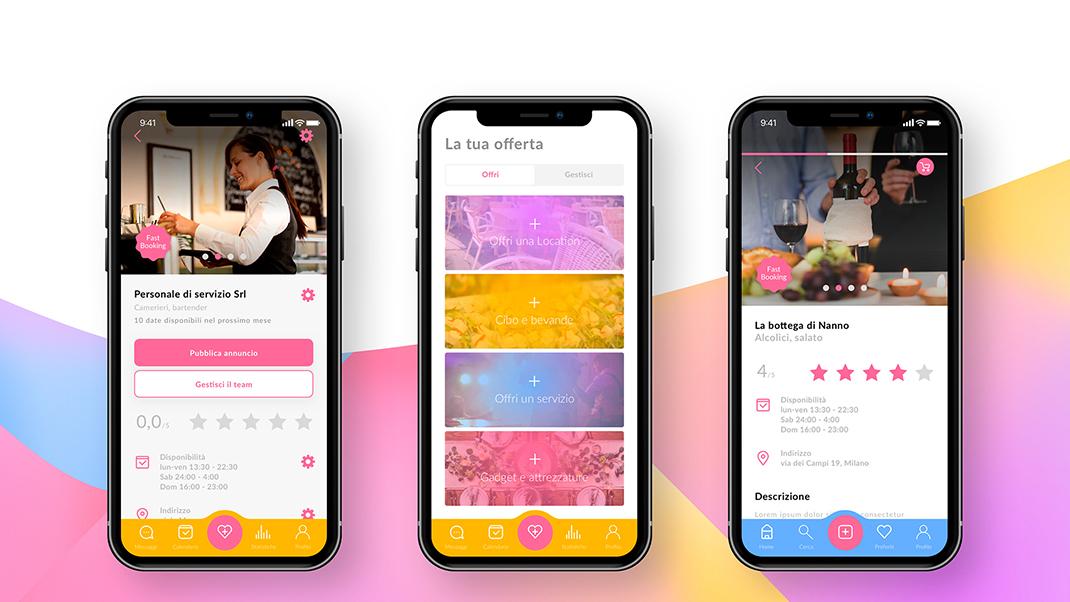 Organizzare eventi - Event Now - app
