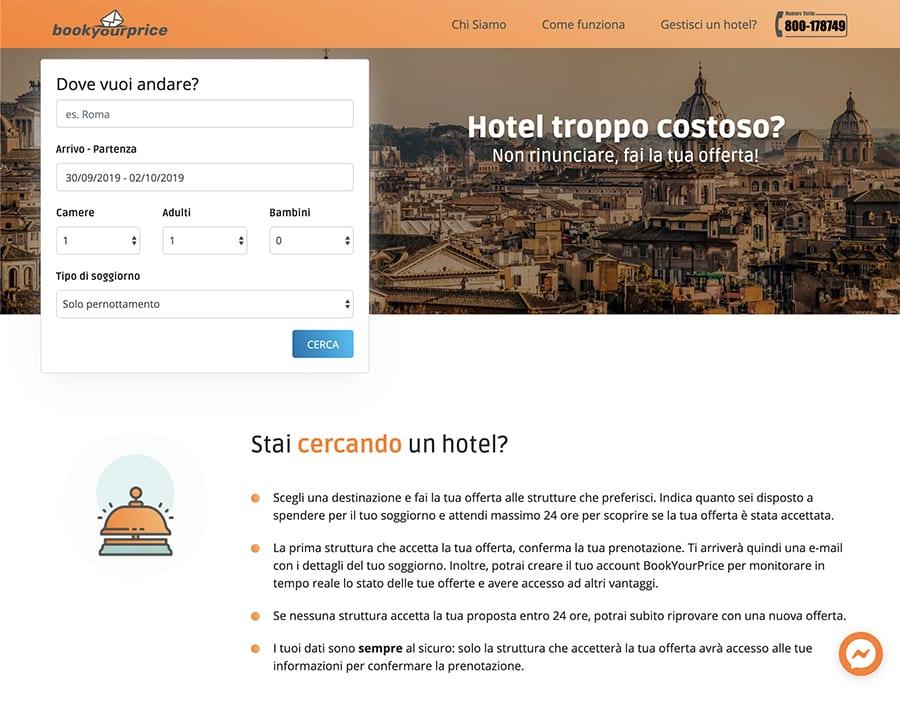 BookYourPrice - prenotazioni alberghiere online