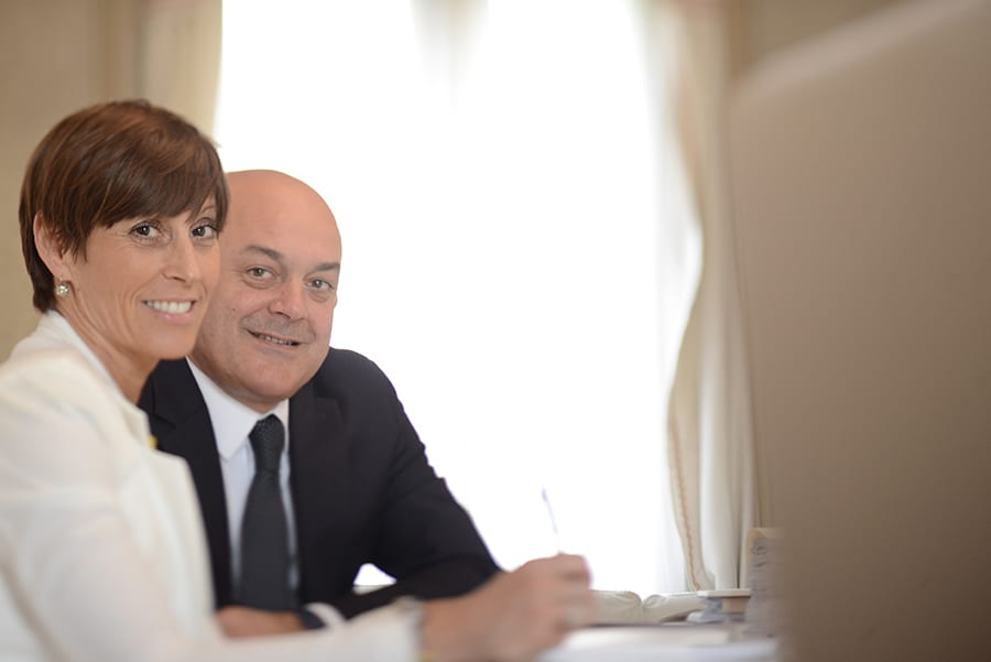 Legge3 Gianmario Bertollo con la moglie Maria Sole