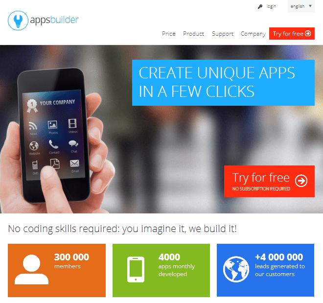 Hai l idea di un app realizzala qui millionaire for Home builder app