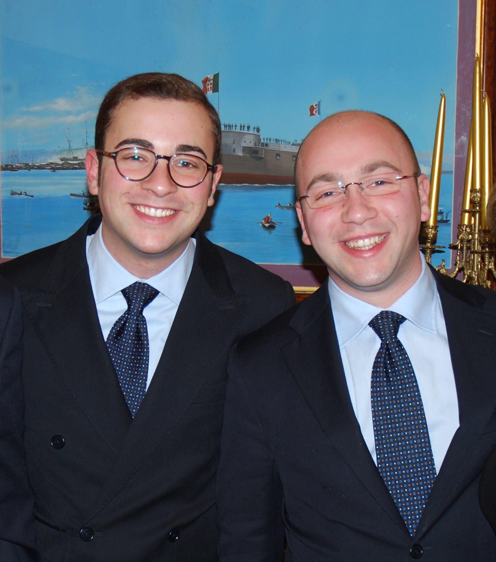 Da sinistra Felice e Salvo D'Angelo