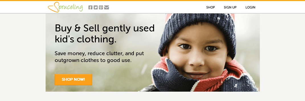 2baeb06f6afb La sua invenzione si chiama Spruceling e consiste in una piattaforma di e- commerce che consente ai genitori di vendere e comprare vestiti usati per i  loro ...